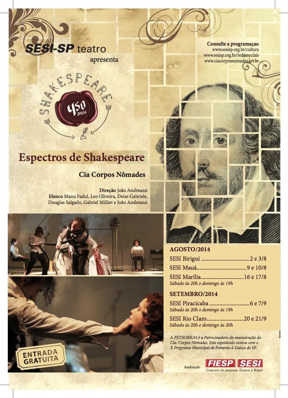 Espectros de Shakespeare - Cia. Corpos  Nômades