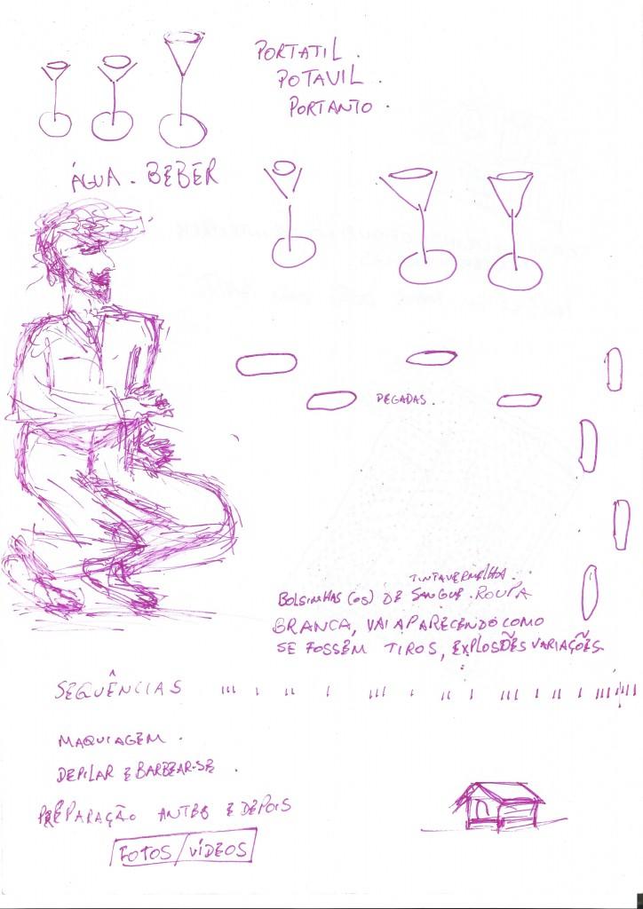 desenho pesquisa LAB Criação Corpo Um lug@r Nômade 2015 2
